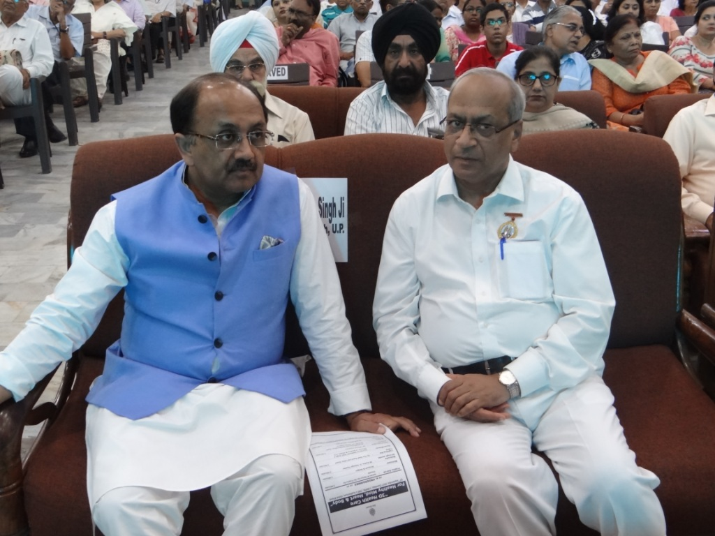 Photo#2- Hon'ble Health Minister of UP - Mr. Siddharth Nath Singh & Dr. Satish Gupta